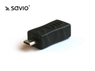 SAVIO ADAPTER MINI USB B ŻEŃSKIE - USB MICRO B MĘSKIE CL-16