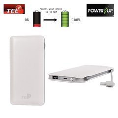 Tel1 Power Bank 12000mAh, Balta