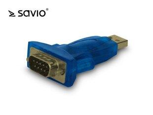 SAVIO ADAPTER USB A MĘSKIE - RS232 DB 9-PIN MĘSKIE TRANSFER PONAD 1MBPS KABEL 60CM CL-22