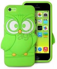 Apsauginis dėklas Puro IPCCOWL3DGRN IPHONE 5C OWL 3D GREEN, skirtas iPhone 5C