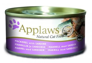 Applaws Cat Mackerel & Sardine, 70 g