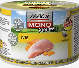 Mac's Mono Sensitive Turkey (100%) + Carrots 400 g