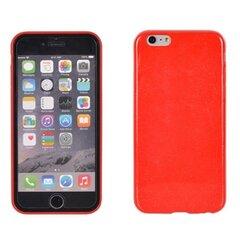 Apsauginis dėklas Telone Candy Ultra Slim 0.3mm skirtas Huawei P8 Lite, Raudonas