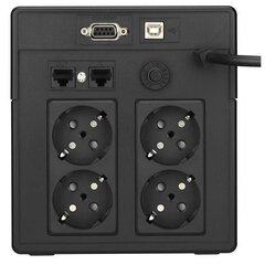 UPS Digitus Line Interactive 1000VA, USB/RS232, LCD kaina ir informacija | Nepertraukiamo maitinimo šaltiniai (UPS) | pigu.lt