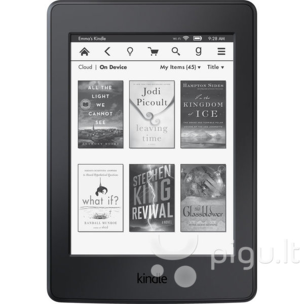 Amazon Kindle Paperwhite 3 2015, 6'' Juoda