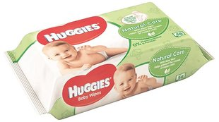 Drėgnos servetėlės HUGGIES Natural Care 56vnt.