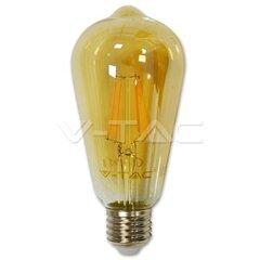 4W LED lemputė V-TAC E27, ST64, su gintariniu paviršiumi, 2200K