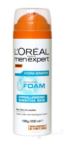 Skutimosi putos jautriai odai L'Oreal Paris Men Expert Hydra Sensitive 200 ml