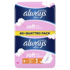 Higieniniai paketai Always Sensitive Ultra Normal Plus 40 vnt.