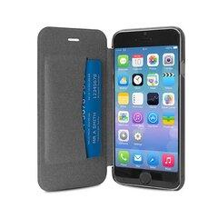 Apsauginis dėklas PURO skirtas iPhone 6 Plus, permatoma nugarėlė, juodas