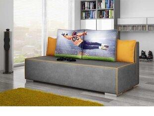 Sofa Cosmo, pilka/geltona kaina ir informacija | Sofos, foteliai ir minkšti kampai | pigu.lt