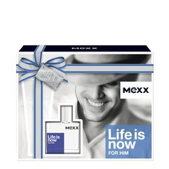 Rinkinys Mexx Life is Now For Him: EDT vyrams 30 ml + dušo želė 50 ml