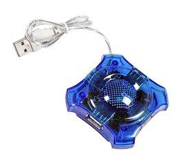 Šakotuvas Esperanza 4 jungtys EA150B USB2.0 STAR, mėlynas