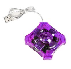Šakotuvas Esperanza 4 jungtys EA150V USB2.0 STAR, violetinis