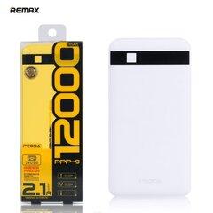 Power Bank Remax Proda 12000mAh + žibintuvėlis, Baltas