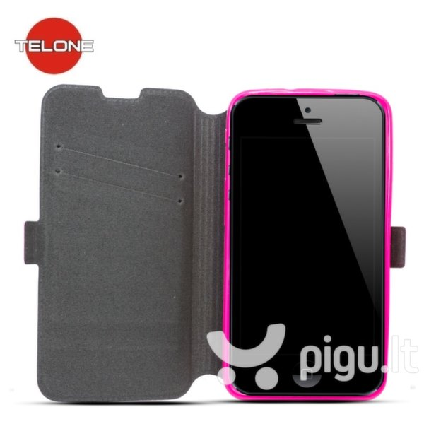 Telone Super Slim Shine Book Case with stand Samsung G388 Galaxy Xcover 3 Pink