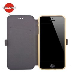 Telone Super Slim Shine Book Case with stand Samsung i9500 Galaxy S4 Gold