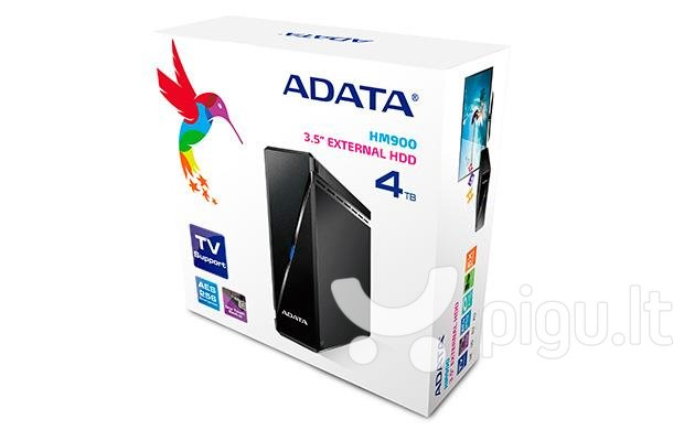 External HDD Adata HM900, 3,5'', 4TB USB 3.0, Black