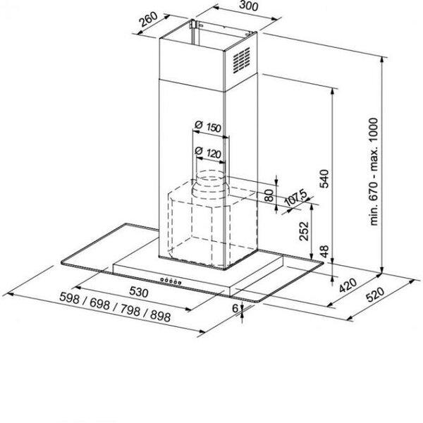 FRANKE GLASS LINEAR FGL 805-P XS kaina