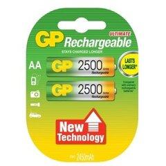 GP Rechargeable kraunami elementai (AA) 2500 mAh kaina ir informacija | Elementai | pigu.lt