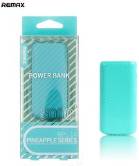 Remax Pineapple 5000mAh Power Bank + LED, Mėtinis
