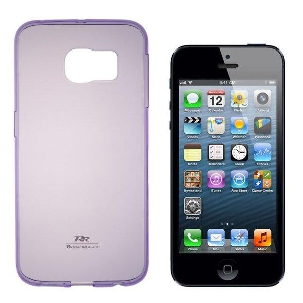 Apsauginis dėklas Roar Ultra Slim 0.3mm skirtas Apple iPhone 6/6S, Violetinis