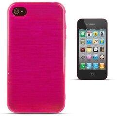 Apsauginis dėklas Forcell Jelly Brush Pearl Back Case skirtas Apple iPhone 4/4S, Rožinis