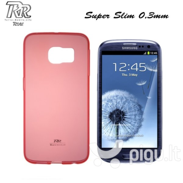 Roar Ultra Thin 0.3mm Premium Quality Back Case Samsung i9300 i9301 Galaxy S3 S3 Neo Transparent Red (EU Blister) kaina ir informacija | Telefono dėklai | pigu.lt