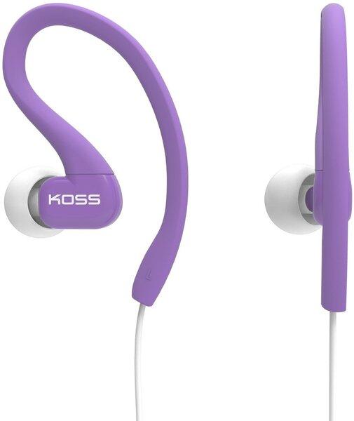 Įstatomos ausinės KOSS KSC32P sportui ir laisvalaikiui, Violetinės