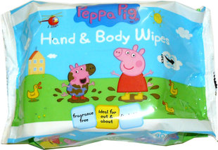 Drėgnos servetėlės kūnui Peppa Pig, 90 vnt.