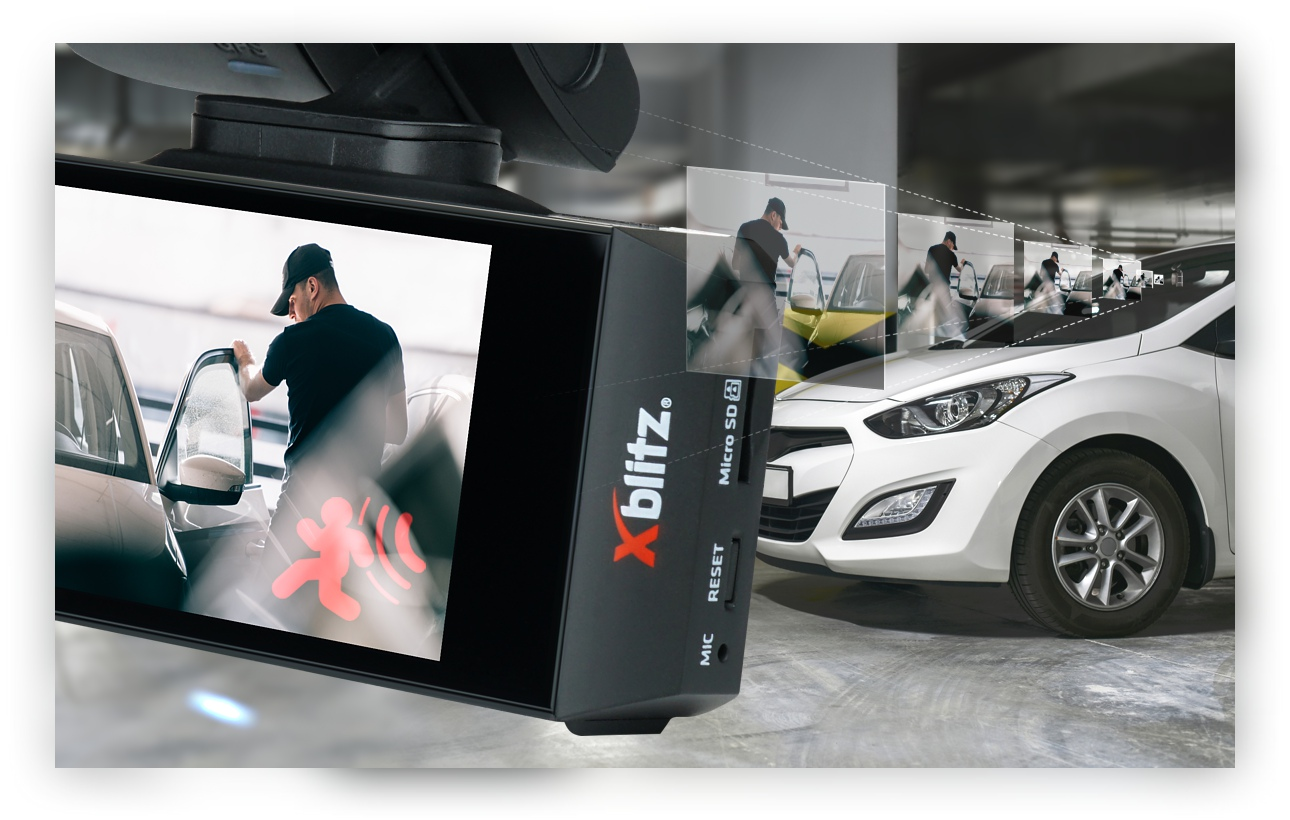 Xblitz v2 dashcam GPS with active recording