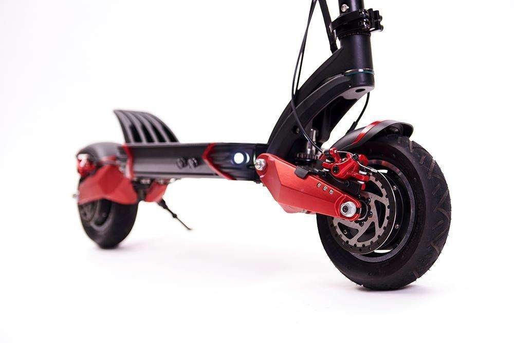 zero 10x electric scooter dual motor side view