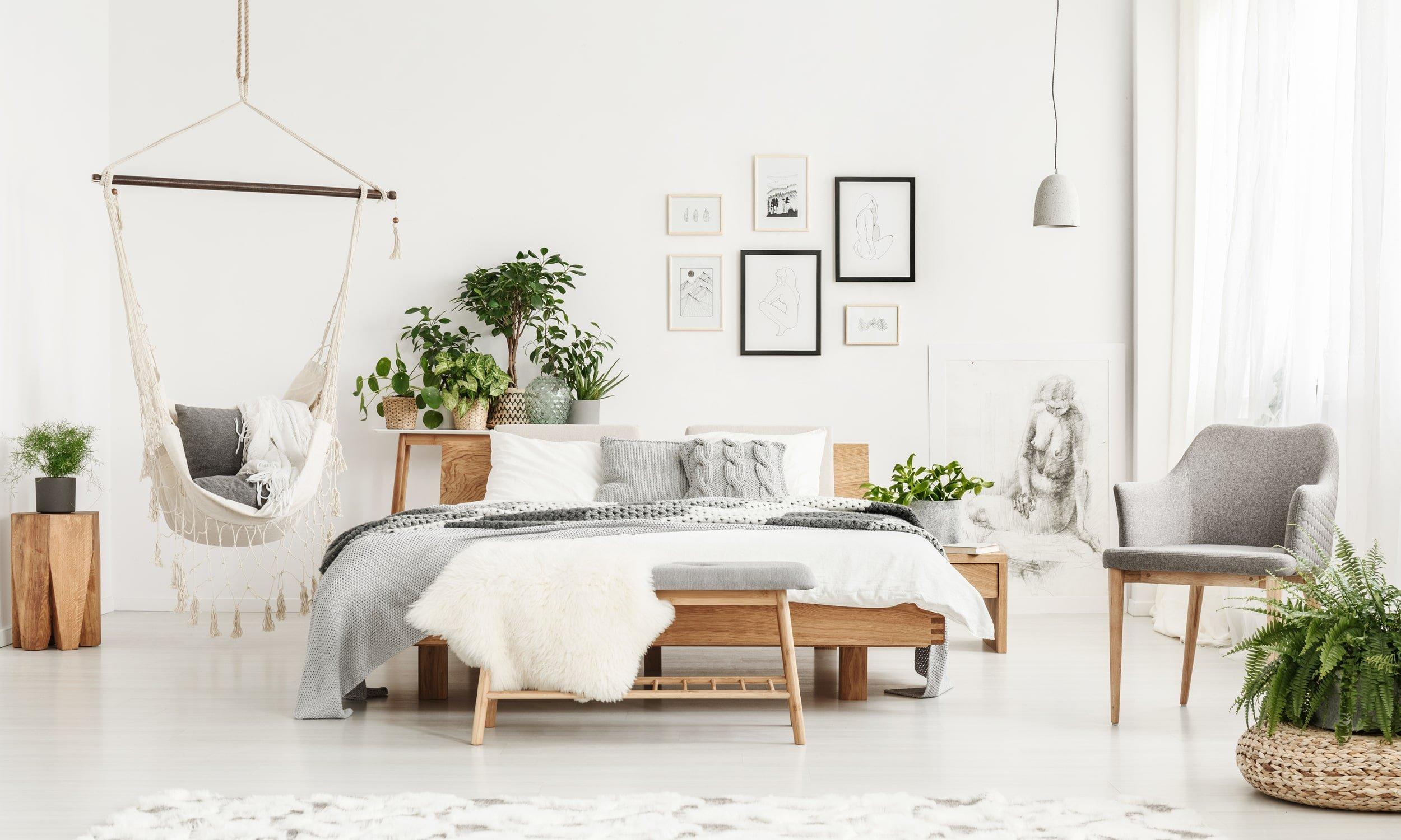 комната в естественном стиле и тенденции